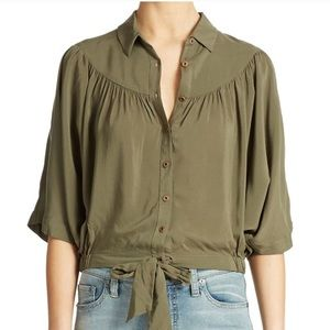 Free People Sheilas Drape and Tie Top